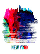 NAXART Studio - New York Skyline Brush Stroke Watercolor