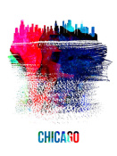 NAXART Studio - Chicago Skyline Brush Stroke Watercolor