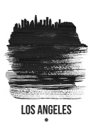 NAXART Studio - Los Angeles Skyline Brush Stroke Black