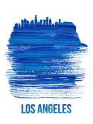 NAXART Studio - Los Angeles Brush Stroke Skyline Blue