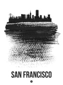 NAXART Studio - San Francisco Skyline Brush Stroke Black