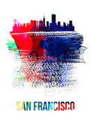 NAXART Studio - San Francisco Skyline Brush Stroke Watercolor