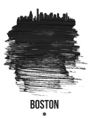 NAXART Studio - Boston Skyline Brush Stroke Black