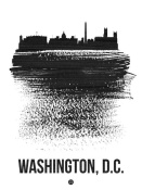 NAXART Studio - Washington, D.C. Skyline Brush Stroke Black