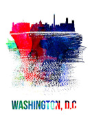 NAXART Studio - Washington, D.C. Skyline Brush Stroke Watercolor