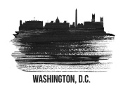 NAXART Studio - Washington, D.C. Skyline Brush Stroke Black II