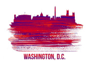 NAXART Studio - Washington, D.C. Skyline Brush Stroke Red