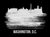 NAXART Studio - Washington, D.C. Skyline Brush Stroke White