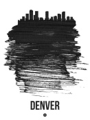 NAXART Studio - Denver Skyline Brush Stroke Black