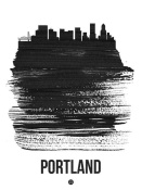 NAXART Studio - Portland Skyline Brush Stroke Black