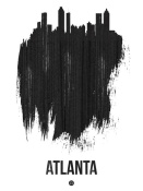 NAXART Studio - Atlanta Skyline Brush Stroke Black