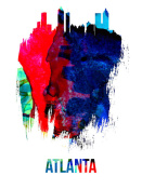 NAXART Studio - Atlanta Skyline Brush Stroke Watercolor
