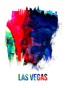 NAXART Studio - Las Vegas Skyline Brush Stroke Watercolor