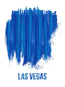 NAXART Studio - Las Vegas Skyline Brush Stroke Blue
