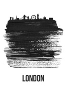 NAXART Studio - London Skyline Brush Stroke Black