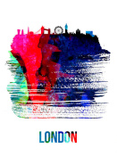 NAXART Studio - London Skyline Brush Stroke Watercolor