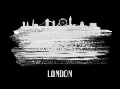 NAXART Studio - London Skyline Brush Stroke White