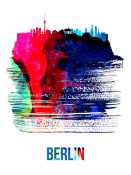 NAXART Studio - Berlin Skyline Brush Stroke Watercolor