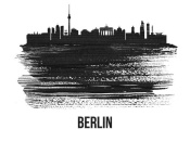 NAXART Studio - Berlin  Skyline Brush Stroke Black II