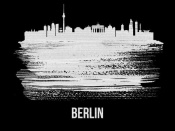 NAXART Studio - Berlin  Skyline Brush Stroke White