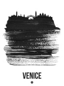 NAXART Studio - Venice Skyline Brush Stroke Black