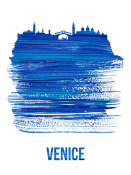 NAXART Studio - Venice Skyline Brush Stroke Blue