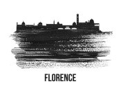 NAXART Studio - Florence Skyline Brush Stroke Black II