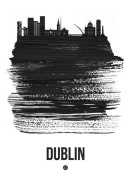 NAXART Studio - Dublin Skyline Brush Stroke Black
