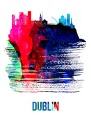 NAXART Studio - Dublin Skyline Brush Stroke Watercolor