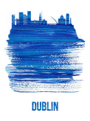 NAXART Studio - Dublin Skyline Brush Stroke Blue
