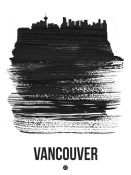 NAXART Studio - Vancouver Skyline Brush Stroke Black