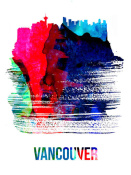 NAXART Studio - Vancouver Skyline Brush Stroke Watercolor
