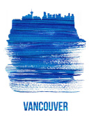NAXART Studio - Vancouver Skyline Brush Stroke Blue