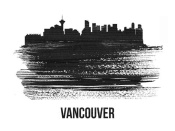 NAXART Studio - Vancouver Skyline Brush Stroke Black II