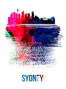 NAXART Studio - Sydney Skyline Brush Stroke Watercolor