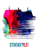 NAXART Studio - Stockholm Skyline Brush Stroke Watercolor