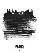 NAXART Studio - Paris Skyline Brush Stroke Black