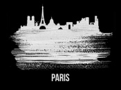 NAXART Studio - Paris Skyline Brush Stroke White