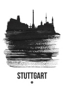 NAXART Studio - Stuttgart Skyline Brush Stroke Black