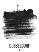 NAXART Studio - Dusseldorf Skyline Brush Stroke Black