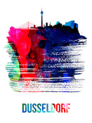NAXART Studio - Dusseldorf Skyline Brush Stroke Watercolor