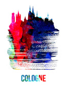 NAXART Studio - Cologne Skyline Brush Stroke Watercolor