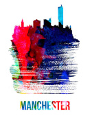 NAXART Studio - Manchester Skyline Brush Stroke Watercolor