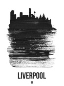 NAXART Studio - Liverpool Skyline Brush Stroke Black