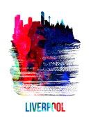 NAXART Studio - Liverpool Skyline Brush Stroke Watercolor