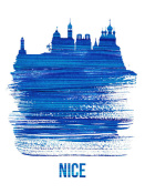 NAXART Studio - Nice Skyline Brush Stroke Blue