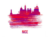 NAXART Studio - Nice Skyline Brush Stroke Red