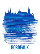 NAXART Studio - Bordeaux Skyline Brush Stroke Blue