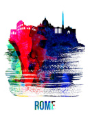 NAXART Studio - Rome Skyline Brush Stroke Watercolor