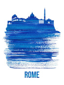 NAXART Studio - Rome Skyline Brush Stroke Blue